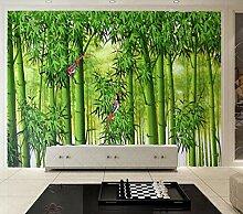 Fototapete 3D Tapeten Wandbilder Bambus Vogel