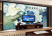 Fototapete 3D Tapeten Wandbilder Blumenpfingstrose