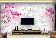 Fototapete 3D Tapeten Wandbilder Blumenquadratmode
