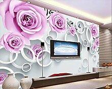 Fototapete 3D Tapeten Wandbilder Blumenrebe Stieg