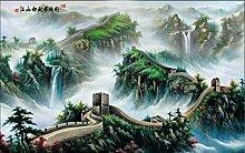 Fototapete 3D Tapeten Wandbilder Chinesische Mauer