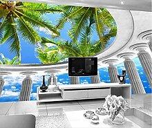 Fototapete 3D Tapeten Wandbilder Cocosäule Himmel