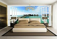 Fototapete 3D Tapeten Wandbilder Fenster Mit