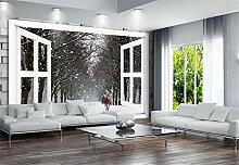Fototapete 3D Tapeten Wandbilder Fenster