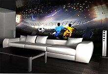 Fototapete 3D Tapeten Wandbilder Fußballplatz
