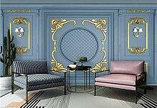 Fototapete 3D Tapeten Wandbilder Golden Geschnitzt