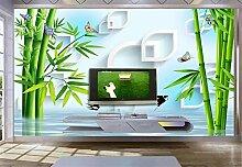 Fototapete 3D Tapeten Wandbilder Grüner Bambus