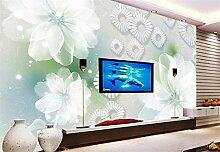 Fototapete 3D Tapeten Wandbilder Lotus abstrakt