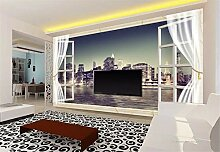Fototapete 3D Tapeten Wandbilder Nachtfenster