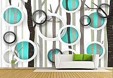Fototapete 3D Tapeten Wandbilder Romantischer Wald