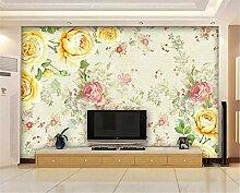 Fototapete 3D Tapeten Wandbilder Rosengarten