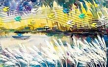 Fototapete 3D Tapeten Wandbilder Schluckwasser