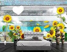 Fototapete 3D Tapeten Wandbilder Sonnenblume