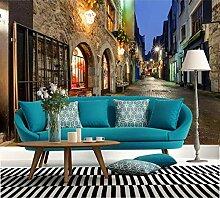 Fototapete 3D Tapeten Wandbilder Stadtnachtstraße