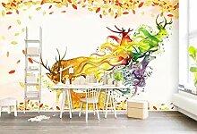 Fototapete 3D Tapeten Wandbilder Verträumte Elch