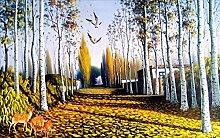 Fototapete 3D Tapeten Wandbilder Waldmalerei Der