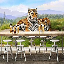 Fototapete 3D Tiere Wanddekoration Wandtapete für
