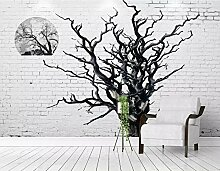 Fototapete 3D Trees Mauer Tapeten Retro