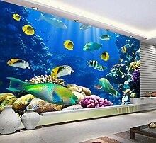 Fototapete 3D Unterwasser, Fisch Art Design Tapete