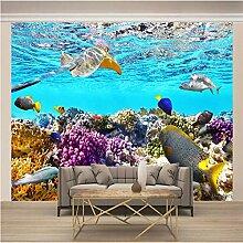 Fototapete 3D Unterwasserkorallentierfische