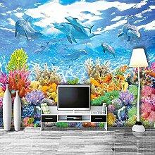 Fototapete 3D Unterwasserwelt Wandmalerei