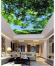 Fototapete 3D Wandbild Bambus Decke Wohnzimmer