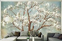 Fototapete 3D Wandbild Eleganter Handgemalter Baum
