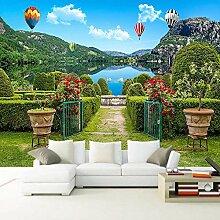 Fototapete 3D Wandbild Garten Landschaft Tapete