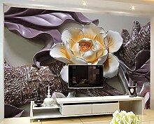 Fototapete 3d wandbild Geprägte Blumenstammmode
