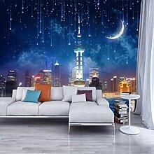 Fototapete 3d Wandbild Meteor Mond Wandtapete