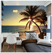 Fototapete 3D Wandbild Strand Sonnenuntergang
