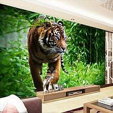 Fototapete 3d Wandbild Tiger Wandtapete Design