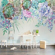 Fototapete 3D Wandbilder Tapete grüne Pflanze