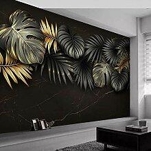 Fototapete 3D Wandbilder Tapete Pflanze Blätter