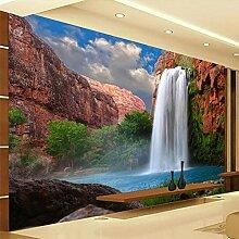 Fototapete 3D Wasserfälle Natur Wandbild