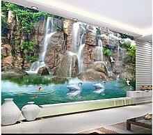 Fototapete 3D Waterfall Mauer Tapeten Retro