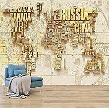 Fototapete 3D Weltkarte Wandbild