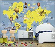 Fototapete 3D Weltkarte Wandbilder Wallpaper Für