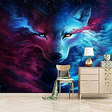 Fototapete 3D Wolf Design Tapete Fototapeten Vlies