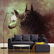 Fototapete 3D Wolf Totem Wand Tapete Wohnzimmer