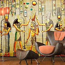Fototapete 3D ZZZXX Vintage Malerei Ägyptischen