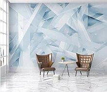 Fototapete Abstrakt Geometrisch Hellblau 3D