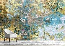 Fototapete Abstrakt Goldfolie Blau Marmorierung