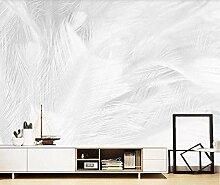 Fototapete Abstrakt Grau Weiß Federn 3D Tapeten
