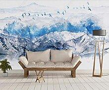 Fototapete Abstrakte Landschaft Mit Fliegenden