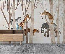 Fototapete Abstrakte Waldtiere Tapete Wohnzimmer