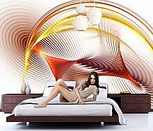 Fototapete ABSTRAKTE WELLEN 300x250cm Bild, Tapete, Kinderzimmer, Dekoration wall mural wallpaper