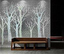 Fototapete Abstrakter Baum Auf Weinlesewandfliesen