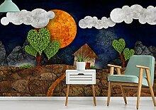 Fototapete Abstrakter Wolkenmondbaum 430x300cm