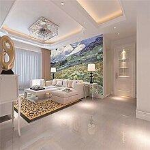 Fototapete Almwiese Moderne Wandbild Tapete 3D -